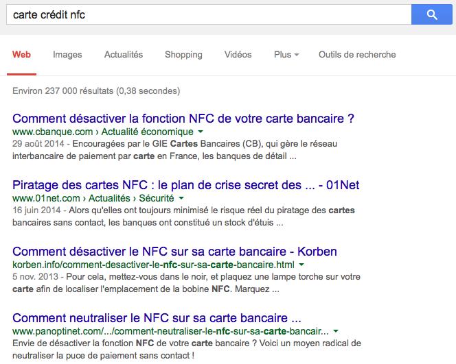 Recherche Google pour carte crédit nfc