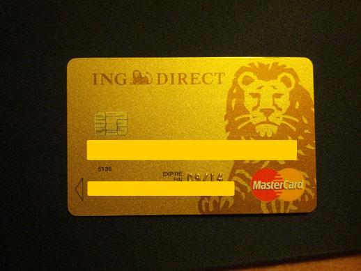 Carte bancaire ING Direct après 3 ans