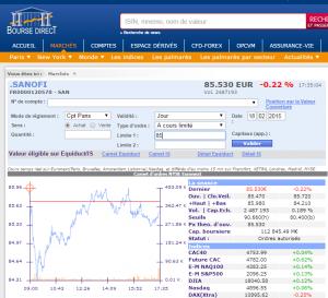 Site web de BourseDirect