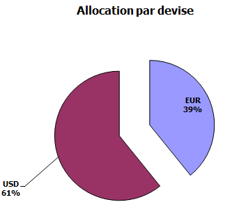 Allocation par devise du portefeuille en octobre 2017